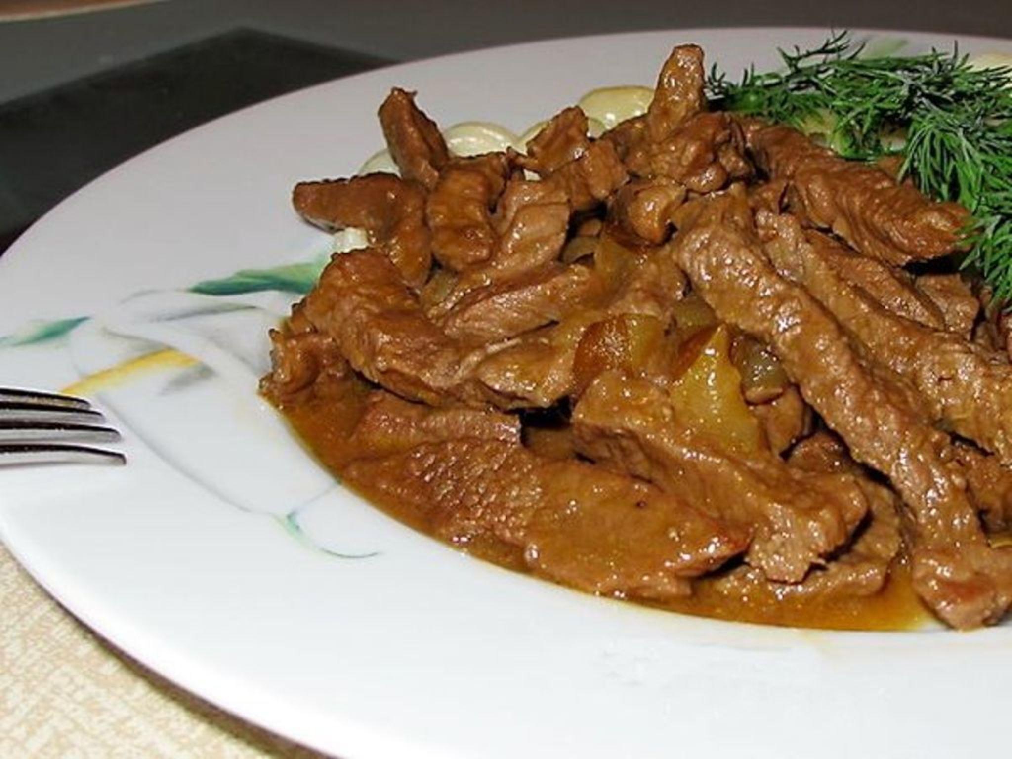 Свинина по-строгановски рецепт пошагово