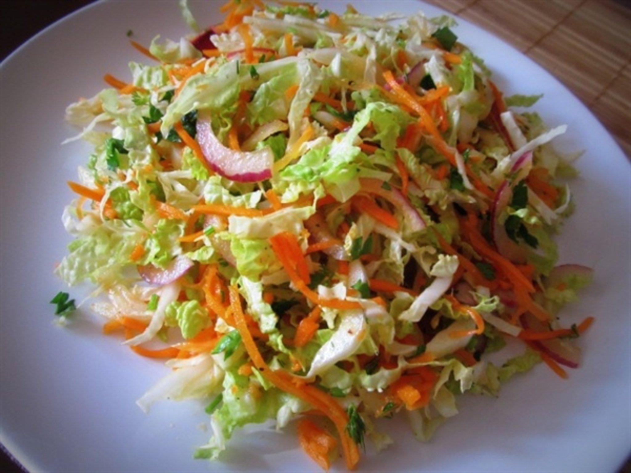 салат из свежей капусты по китайски