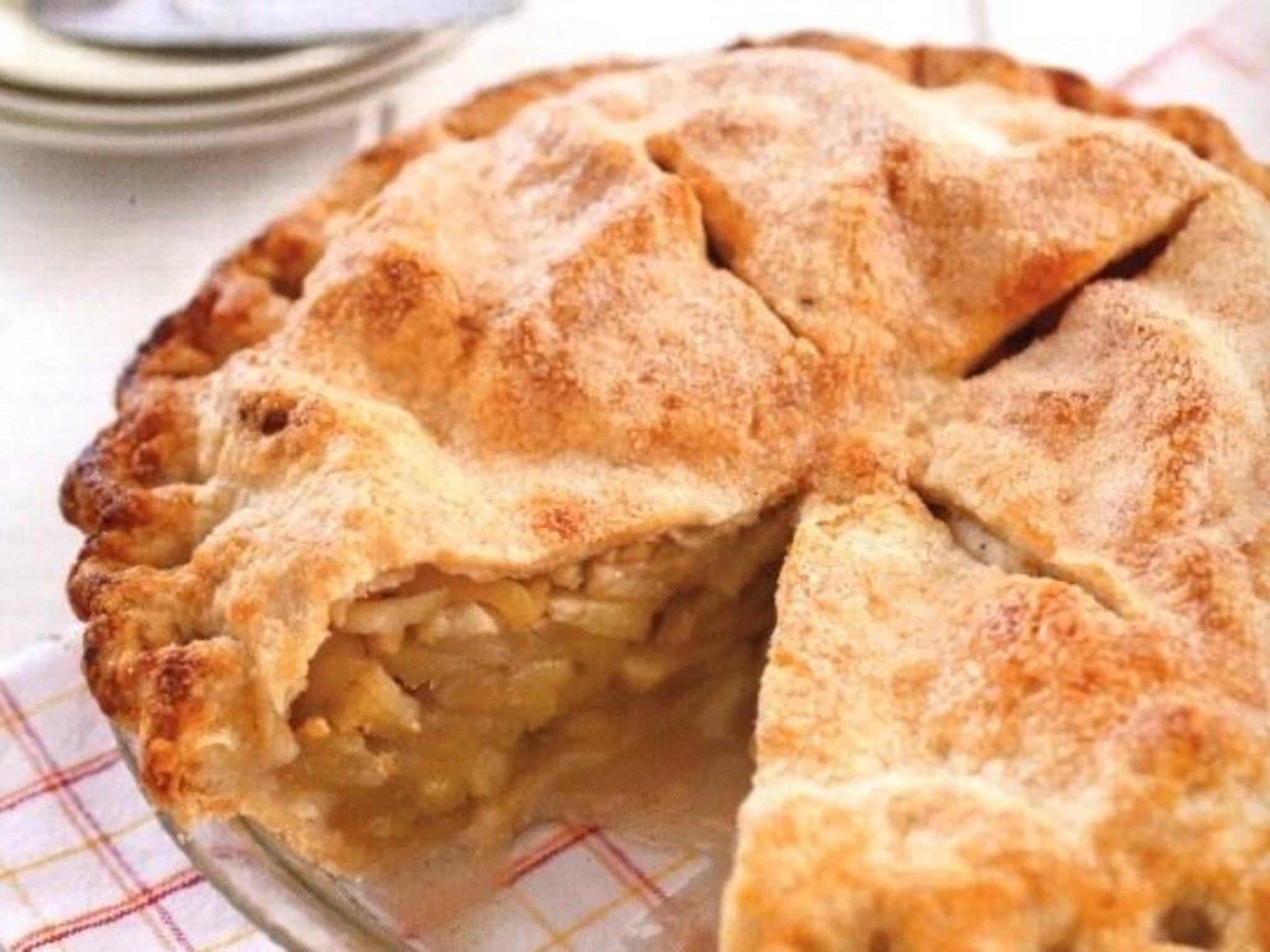 Яблочный пироги из слоеного теста