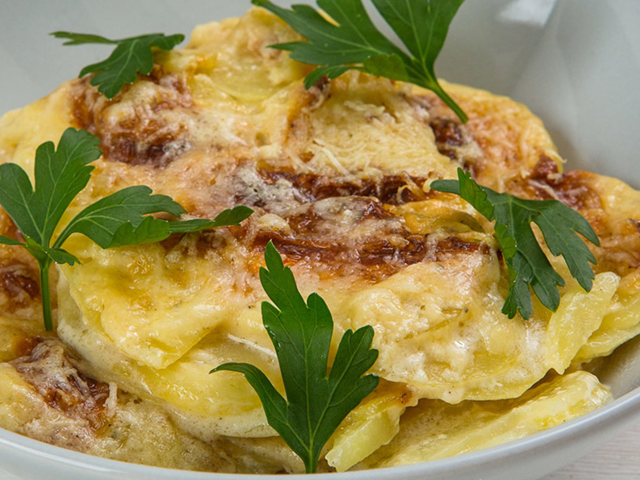 Картофельный гратен с мясом рецепт