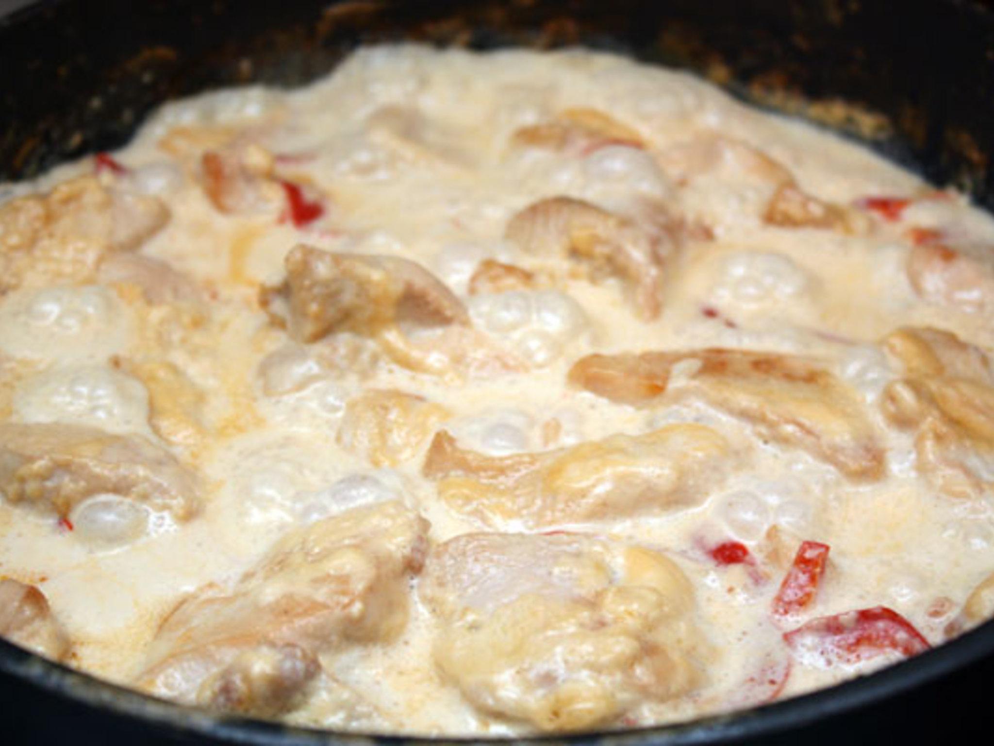 Курица в сливках на сковороде рецепт