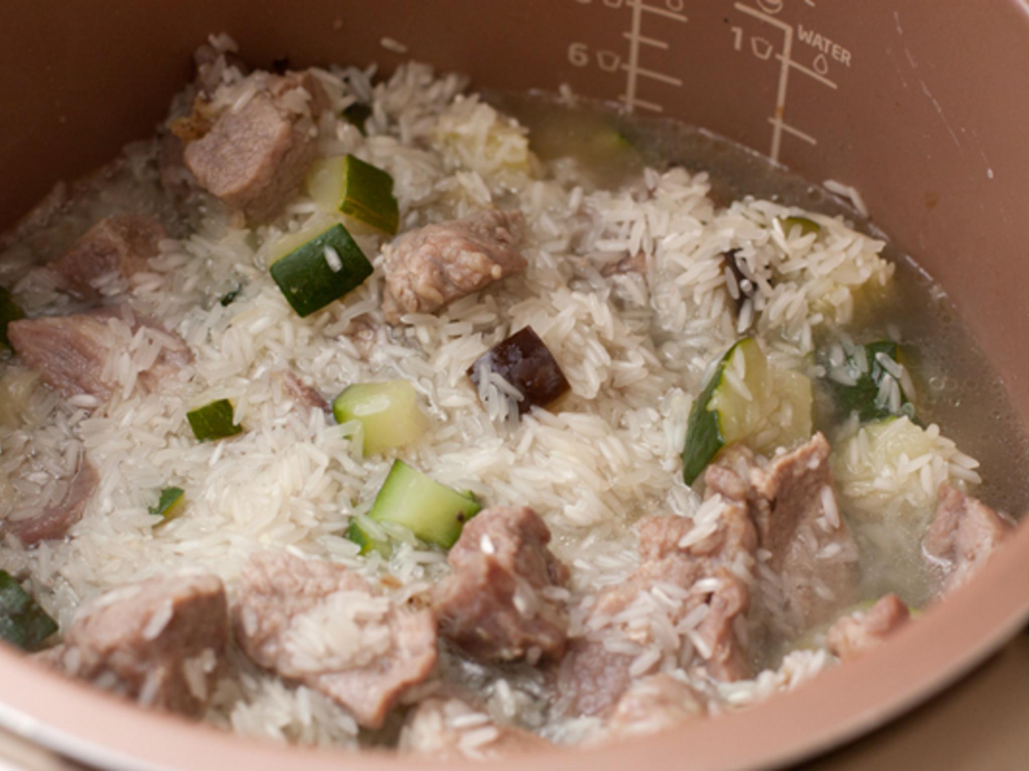 Рис со свининой рецепт в мультиварке