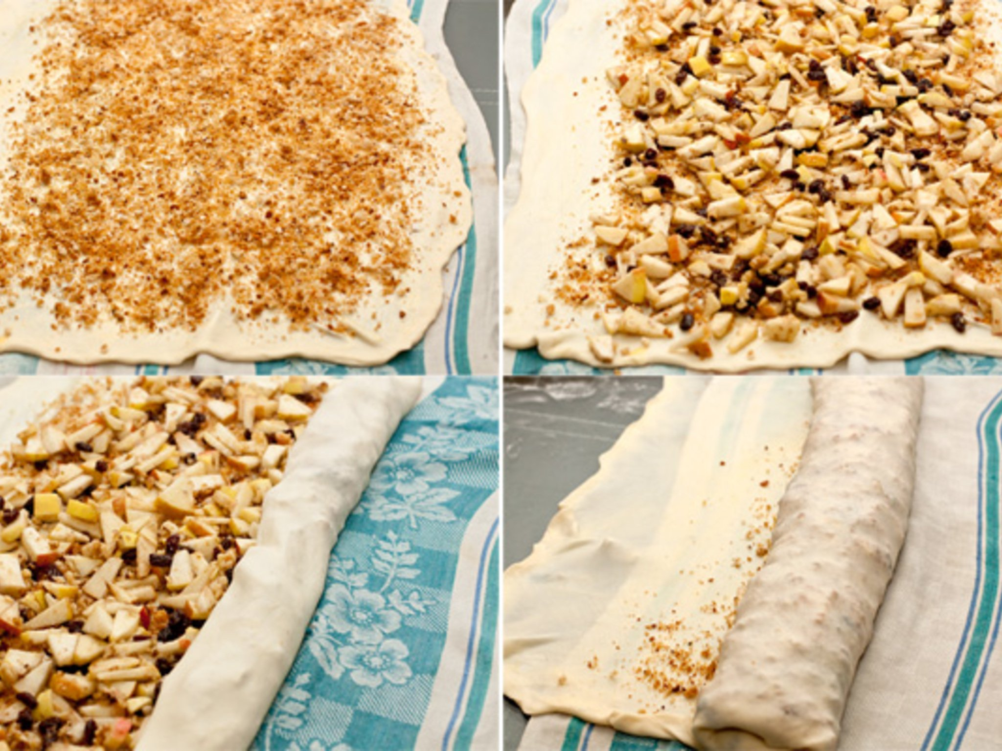 Яблочный штрудель пошаговый рецепт