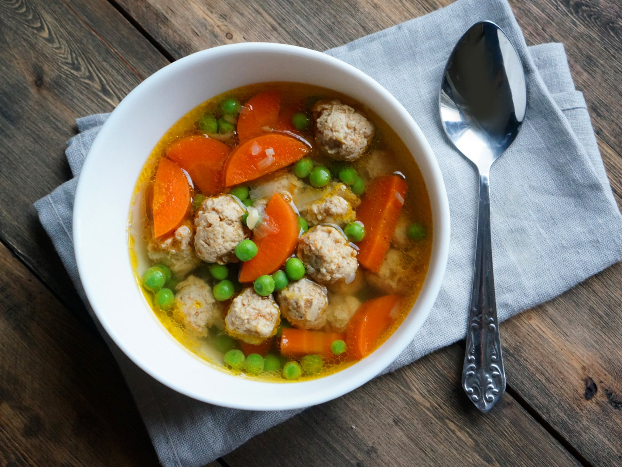 Суп с фрикадельками куриный рецепт с пошагово в