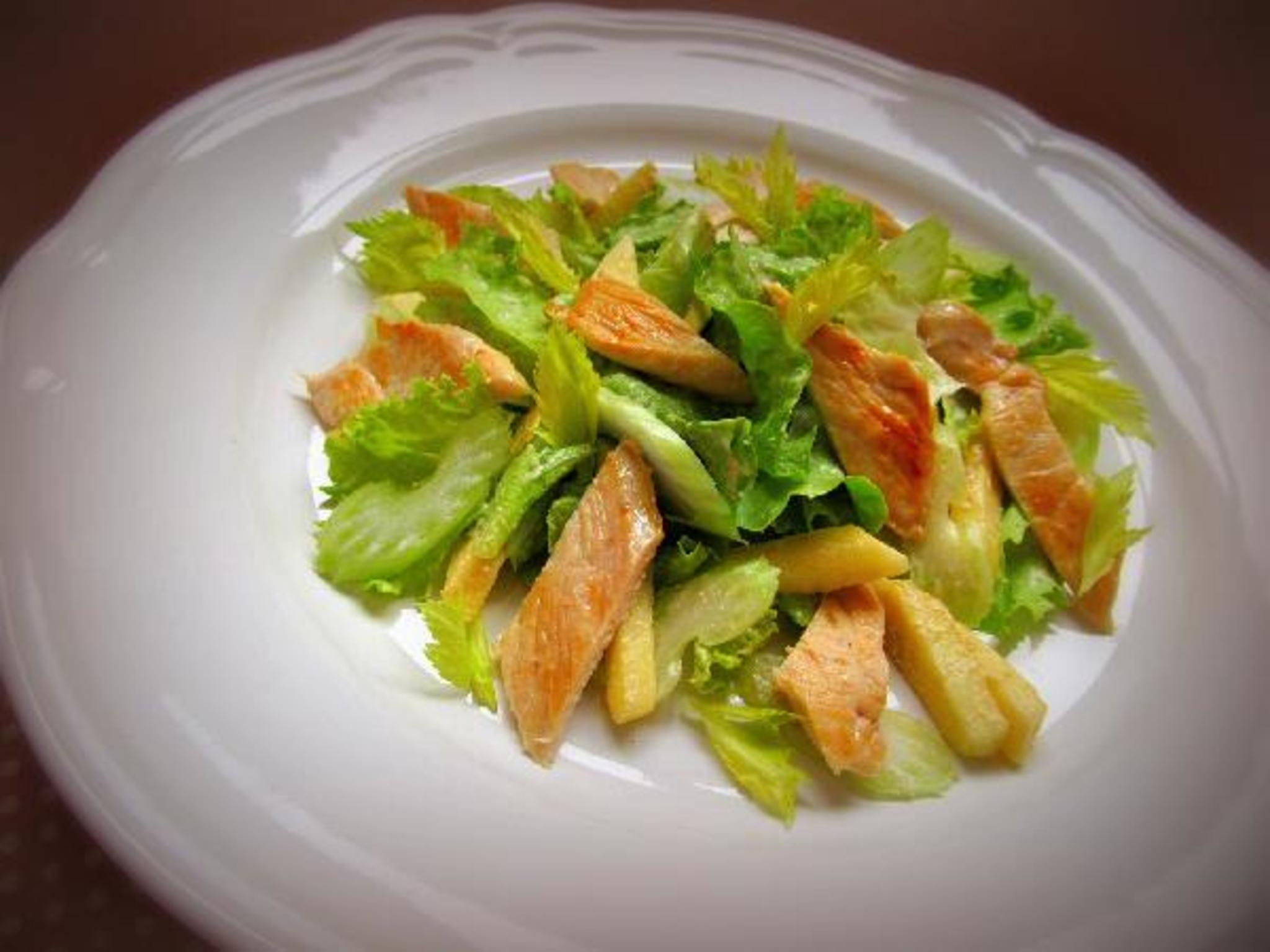 Салаты из сельдерея и курицы рецепты с