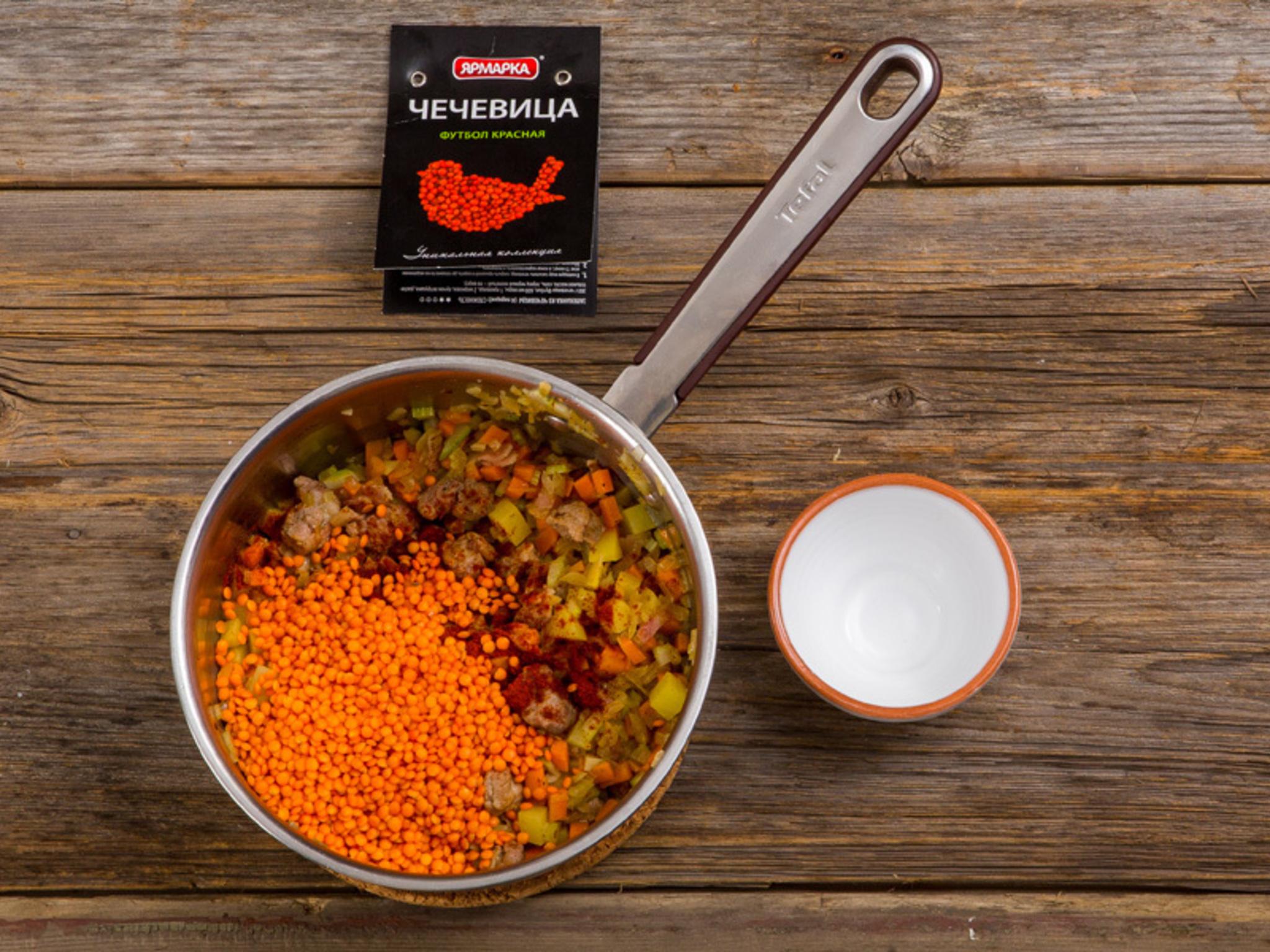 Суп из чечевицы и свинины рецепт