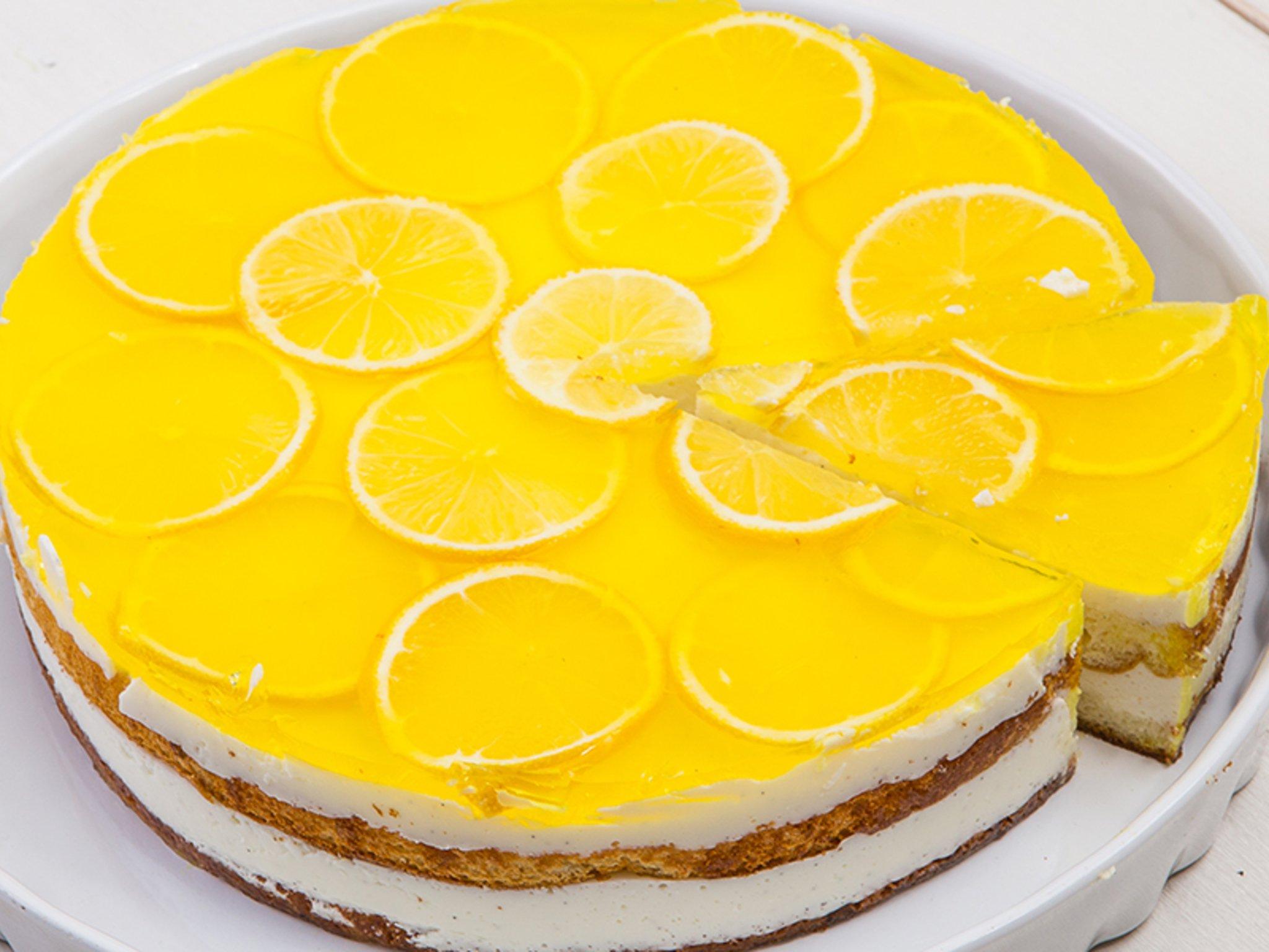 Фото рецепт лимонный торт