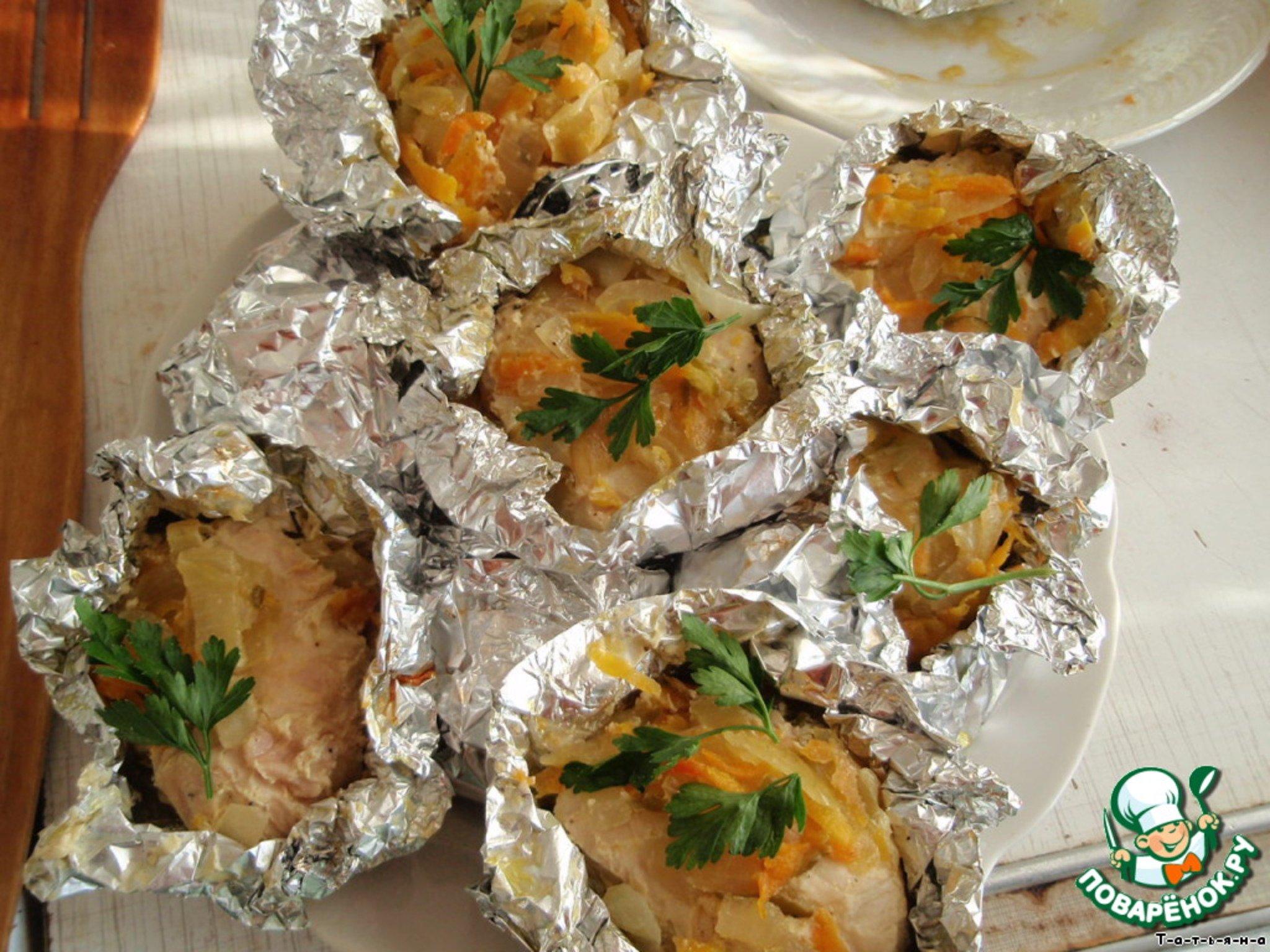 Курица с картошкой в духовке в фольге порционно в духовке рецепты