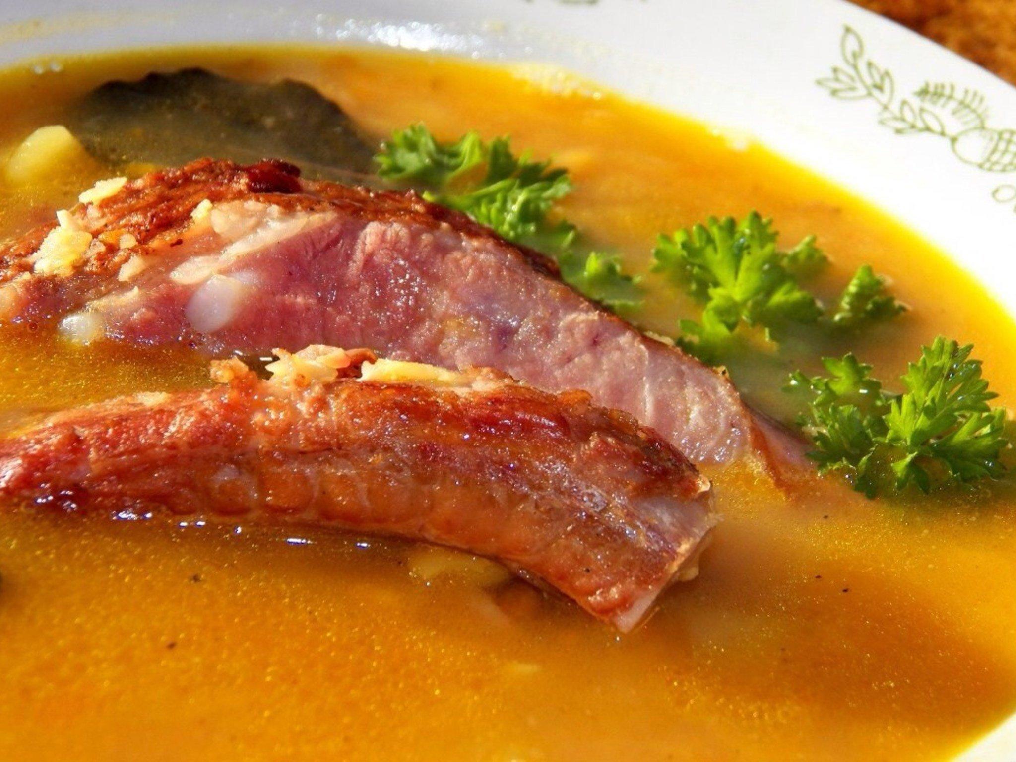 Суп из копченых ребрышек с горохом рецепт пошагово