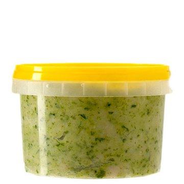 Крученое сальце с чесноком да зеленью