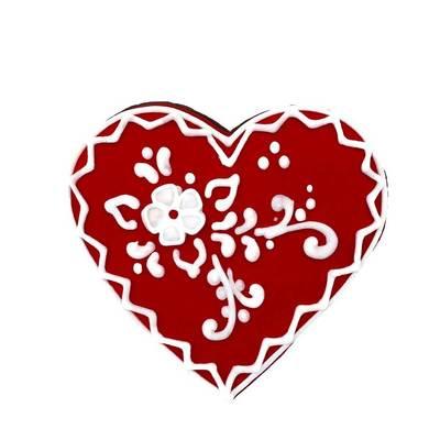 Пряник Сердце-Кружево