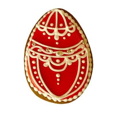 Пряник Пасхальное яйцо красное
