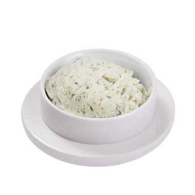 Крученое сало с чесноком и зеленью